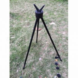 Hunting Shooting Tripod Fishing Walking Tripod Shooting Stand Gun Rifle Stability Tripod Hunting Product Matt Black
