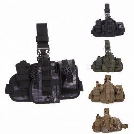Tactical Universal Hunting Army Adjustable Pistol Molle Drop Leg Stickers Design Nylon Platform Panel Pistol Holster Bag Pouch Khaki