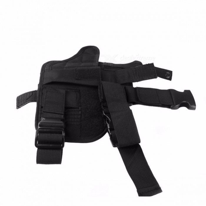 Outdoor Tactical 7 Colors Adjustable Puttee Thigh Leg Shouder Pistol Gun Holster Pouch Camping Wrap-around Hunting Accessories