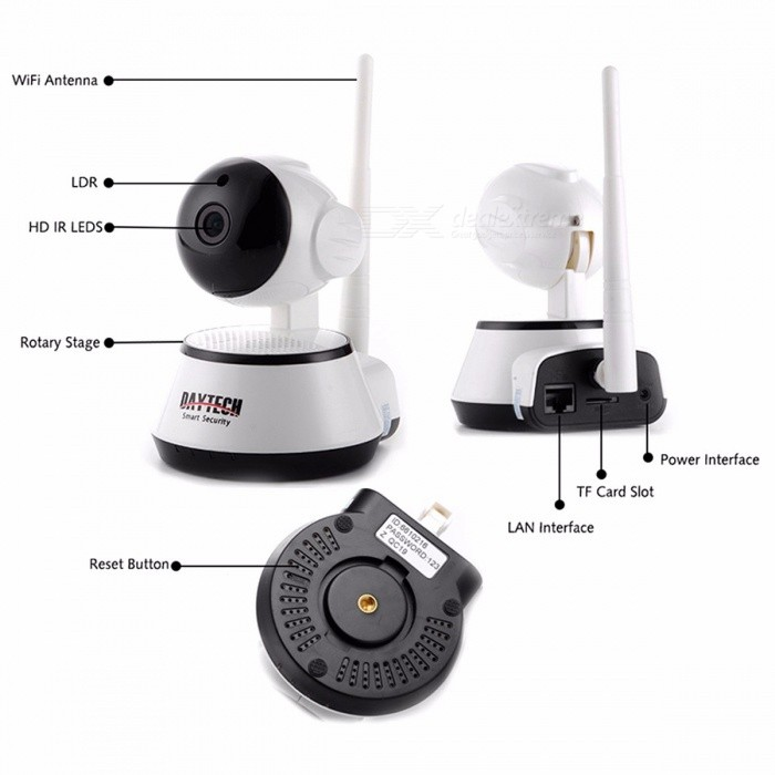 Daytech DT-C8815 Home Security IP Camera 720P Wireless Wi-Fi Camera Surveillance CCTV Baby Monitor with Night Vision
