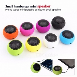 Stylish Mini Portable MP3 Music Player Stereo Speaker 3.5mm Jack Colourful High Quality Audio Speaker Black