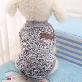 Winter Warm Classic Dog Clothes, Puppy Outfit, Pet Jacket Coat, Soft Sweater Clothing for Small Medium Dogs Chihuahua XL/Grey