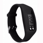 Sports Digital Tracker LCD Fitness Watch Bracelet Pedometer Running Step Counter Walking Distance Calorie Counter Black