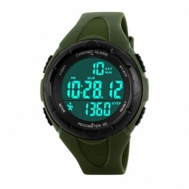 Smart Pedometer Digital Sports Watch Calories Pedometers Step Counter Life Waterproof for Outdoor Walking Running  Black