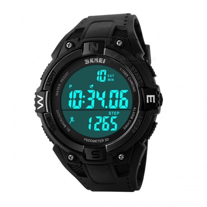 Smart Pedometer Digital Sports Watch Calories Pedometers Step Counter Life Waterproof For Outdoor Walking Running  Black with boxFitness electronics<br>DescriptionType: Single-function PedometerBrand Name: ROBESBON<br>