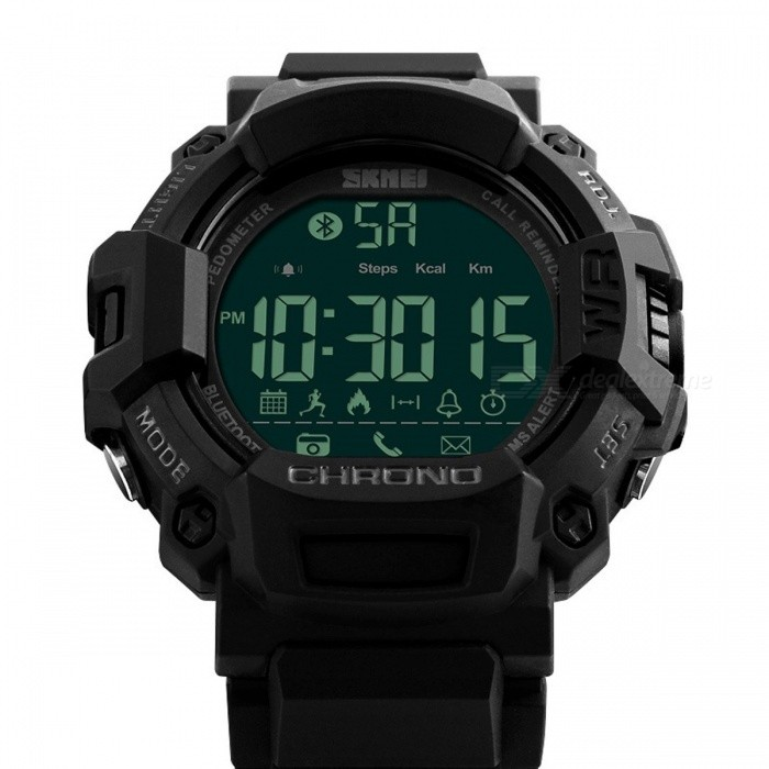 Mens Bluetooth Smart Pedometer Digital Sports Watch Calories Calculation Pedometers Waterproof Step Counter for Walking Running  Black with boxFitness electronics<br>DescriptionType: Calorie Calculation FunctionBrand Name: ROBESBON<br>
