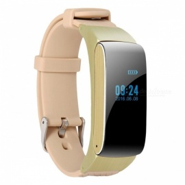 Sports Bluetooth Smartband Smart Digital Band Pedometer Calorie Sleep Monitor Anti lost Outdoor Watch Gym Fitness Equipment Golden