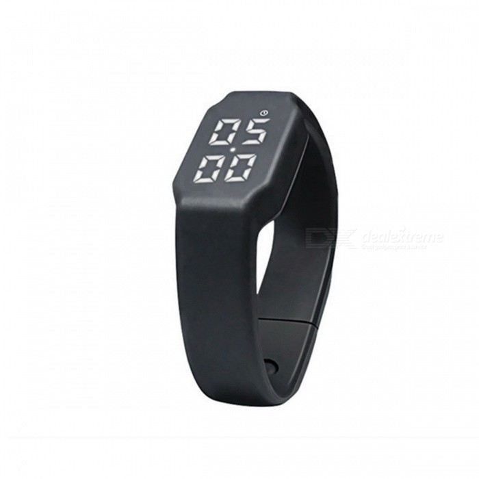 Silicone Smart Band Pedometer Sports Watch Calories Pedometers Unisex Fitness Step Counter for Outdoor Walking Running  BlackFitness electronics<br>DescriptionType: Calorie Calculation FunctionBrand Name: ROBESBON<br>