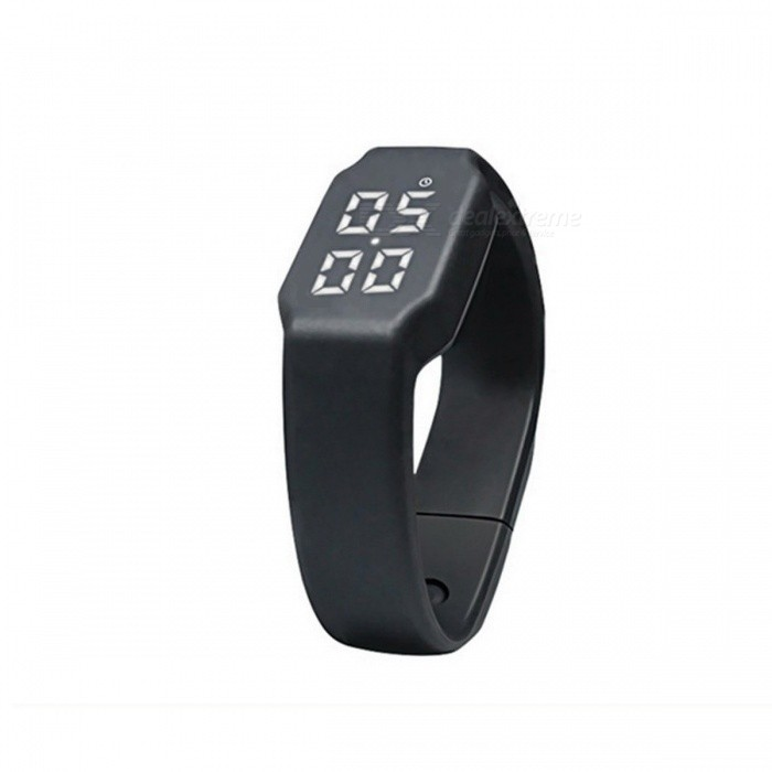 Silicone Smart Band Pedometer Sports Watch Calories Pedometers Unisex Fitness Step Counter for Outdoor Walking Running  BlueFitness electronics<br>DescriptionType: Calorie Calculation FunctionBrand Name: ROBESBON<br>