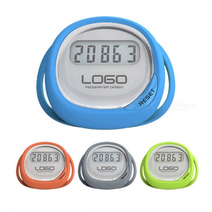 High Quality LCD Display Splash Proof Sports Step Counter Walking Pedometer Can Be Tied to Shoes (Random Color)