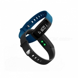 Sports Bluetooth Smart Bracelet Wristband with Pedometer, Heart Rate Monitoring or Walking, Running, Jogging Blue