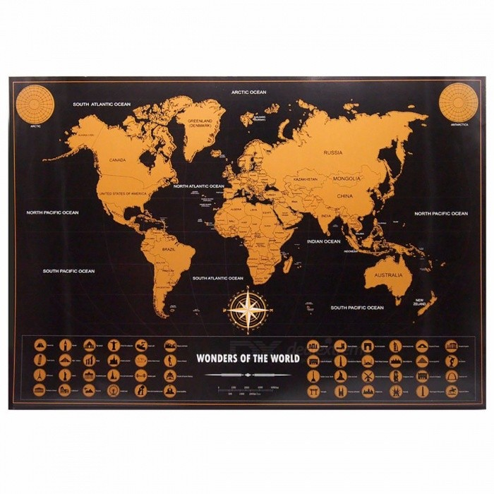 Retro World Map Personalized Vintage Travel World Map Poster - Small world map poster