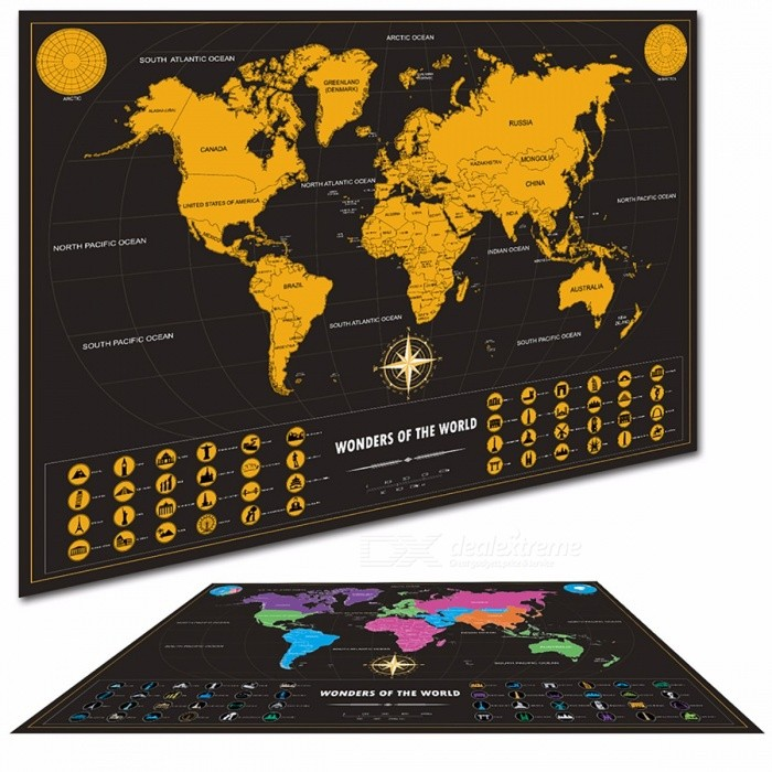 carte du monde r tro personnalis vintage voyage carte du. Black Bedroom Furniture Sets. Home Design Ideas