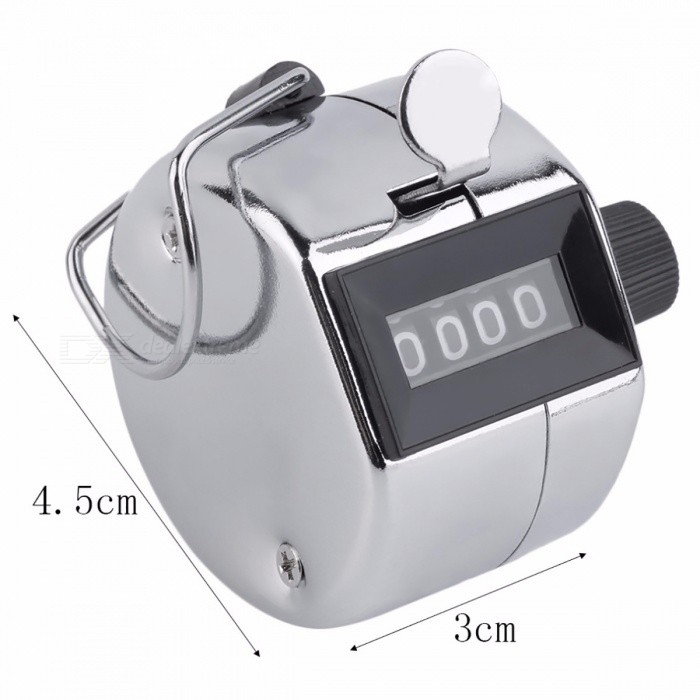 Digital Chrome Hand Tally Clicker Counter 4 Digit Number Clicker Golf Digital Chrome Hand Tally Clicker Counter Pedometers