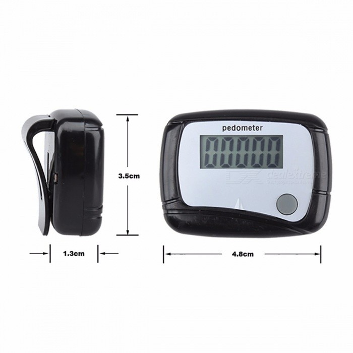 Light Weight Sports LCD Clip-on Step Counter Run Walking Pedometer Distance Calorie Sale (99,999 counts)