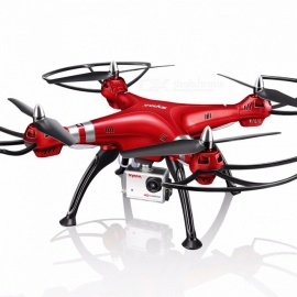 SYMA Professional UAV X8HG (X8G Upgrade) 2.4G 4CH 6-Axis Gyroscope RC Helicopter Quadcopter Drone 1080P 8MP HD Camera Red(X8HG with EU Plug)