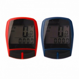 Multifunctional XC Shell Wired Cycling Bike Bicycle Computer Odometer Pedometer Backlight Design Bicycle Accessories Blue