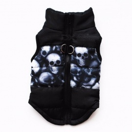 Winter Warm Pet Clothes Windproof Padded Coat Jacket Puppy Outfit Clothing for Small Dog Yorkies Chihuahua M/Black