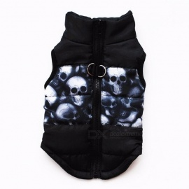 Winter Warm Pet Clothes Windproof Padded Coat Jacket Puppy Outfit Clothing for Small Dog Yorkies Chihuahua XS/Black
