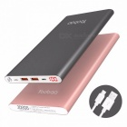 Yoobao A2 Power Bank 20000mAh Dual USB Power Bank Portable Charger External Battery for IPHONE 7 6 5 4 X 8 Xiaomi Mi pink