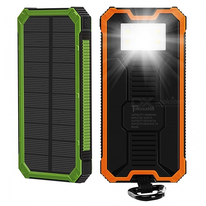 tollcuudda tragbare 10000 mah mobile solar powerbank energienbank externe ladeger t f r xiaomi. Black Bedroom Furniture Sets. Home Design Ideas