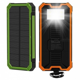 Tollcuudda Portable 10000mAh Mobile Solar Powerbank Power Bank, External Battery Charger for Xiaomi, IPHONE, and More Phones Green