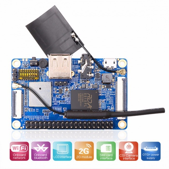 Orange Pi 2G-IOT ARM Cortex-A5 32bit  Bluetooth, Support Ubuntu Linux  And Android Mini PC Beyond Raspberry Pi 2 Orange Pi 2G-IOTMotherboards<br>DescriptionBrand Name: ORANGEPIIntergrated Feature: BluetoothInterface: TF Card Support,USB OTGDemo Board Type: ARM<br>