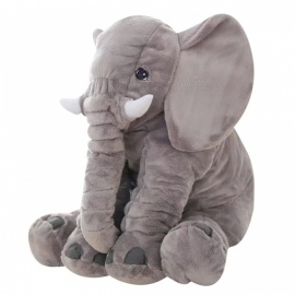 65cm Height Large Plush Elephant Doll Toy for Kids, Sleeping Back Cushion, Cute Baby Accompany Soft Big Size Doll, Chrismas Gift Gray