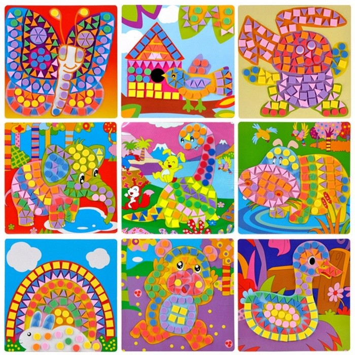 EVA Mosaic Creative 3D Puzzle Stickers Art Crafts Toy for ...