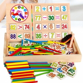 Montessori Wooden Early Educational Toy for Children, Baby DIY Materials Math Study Educative Toy, Chrismas Gift Colorful