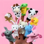 10Pcs/lot  Animal Finger Puppet Baby Kids Plush Toys Cartoon Child Baby Favor Puppets For Bedtime Stories Kids Chrismas Gift Colorful