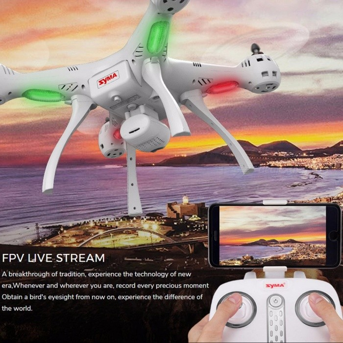 Syma X8PRO RC Drone With Camera 720P HD Wifi FPV Altitude Hold One Key Return GPS Positioning RC Quadcopter RTF Helicopter