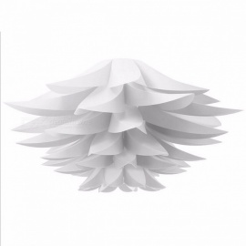 DIY Lily Lotus Shape Pendant Lampshade LED Hanging Lamp for Cafe Restaurant Ceiling Room Decoration,  White