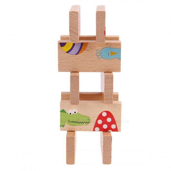 28Pcs/Set Cartoon Animal Colored Dominoes Wooden Puzzle Toy for Kids, Perfect Chrismas Gifts for Children MulticolorBlocks &amp; Jigsaw Toys<br>DescriptionType: BlocksGender: UnisexAge Range: &gt; 3 years oldBrand Name: JOCESTYLEWood Block Type: DominoBarcode: NoMaterial: WoodCertification: 3C<br>