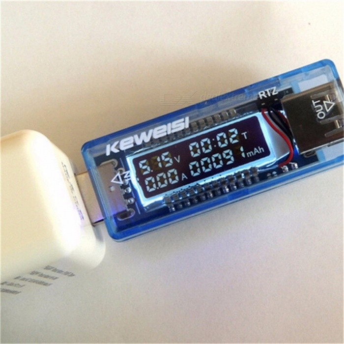 High Quality KEWEISI 3V to 9V 0A to 3A USB Charger Power Battery Capacity Tester Voltage Current Meter