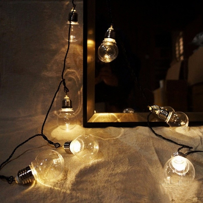 Novelty 20-LED 6m Clear Globe Festoon Garland Fairy String Lights for Christmas Party Holiday ...