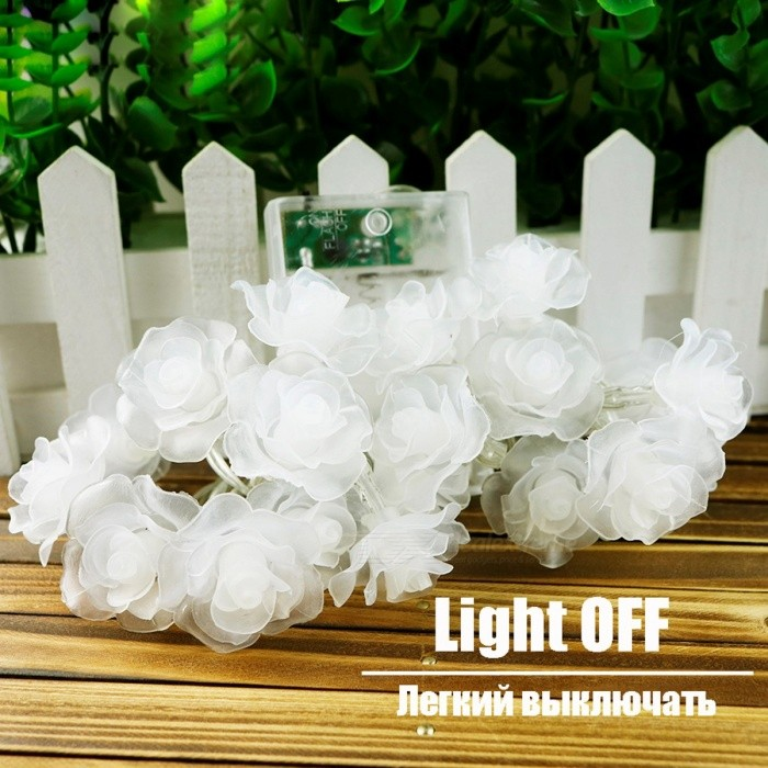 3-4m 20-LED Garland Rose Flower LED String Light Nightlight with AC / AA Power for Valentine's Day Party Wedding Christmas Decor