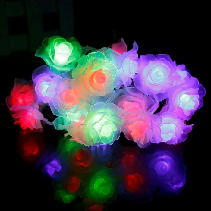 3-4m 20-LED Garland Rose Flower LED String Light Nightlight with AC / AA Power for Valentines Day Party Wedding Christmas Decor EU plug Powered/Changable ColorLED String<br>Description<br><br><br><br><br>Usage: Holiday<br><br><br>Color: Multi,Other<br><br><br><br><br>Lighting Distance: 1-5m<br><br><br>Holiday Name: Christmas<br><br><br><br><br>Certification: CE,RoHS<br><br><br>Occasion: Garden<br><br><br><br><br>Power Source: Dry Battery<br><br><br>Brand Name: CHINCOLOR<br><br><br><br><br>Light Source: LED Bulbs<br><br><br>Base Type: Wedge<br><br><br><br><br>Is Dimmable: No<br><br><br>Is Bulbs Included: Yes<br><br><br><br><br>Body Material: Plastic<br><br><br>Head Number: 20-50 head<br><br><br><br><br>Music: None<br><br><br>Plug Type: None<br><br><br><br><br>Plug The Tail: No<br><br><br>Voltage: Other<br><br><br><br><br>Battery Type: Other<br><br><br><br><br><br><br><br><br><br><br><br>This product is perfect decoration for Valentines Day, Christmas, party, wedding, etc. <br>20 LED 4M Colorful Christmas/Decoration String Lights with EU power plug<br><br><br><br><br><br>Specifications:<br>Item No:&amp;nbsp; LED Sting light <br>led Quantity: 20pcs Rose <br>Length: 3-4meter (&amp;nbsp; The AC plug string length is 4meter, the Battery box string length is 3meter.&amp;nbsp;) <br>Light Color:&amp;nbsp;Multicolor / Warm white <br>Net Weight: About 70g <br>Warranty: 2years <br>Certification: RoHS&amp;nbsp; CE <br><br>Fearture:<br><br><br><br>20 pieces of White PC ball ,light color multicolor<br><br><br>Plug and play, easy to operate.<br><br><br>Low consumption, beautiful bright color.<br><br><br>The color can change several different&amp;nbsp;modes auto as vedio showed.<br><br><br>Waterproof, can be widely used for decoration of roads, courtyards, shop windows, stores, halls, stages, etc.But please keep AC plug or Battery box dry. <br><br><br>Perfect decoration for Christmas, Valentines Day, wedding, party, etc.<br><br><br><br>Package:&amp;nbsp;<br><br><br><br>1 Piece Led s