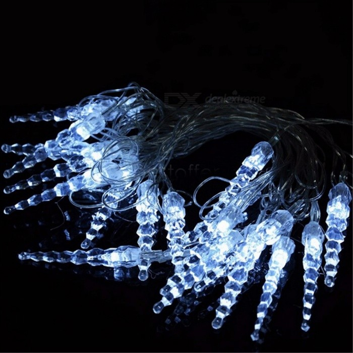 Super Bright 10m 50-LED Icicle Fairy String Lights for New Year Christmas Xmas Wedding Party Decoration UK plug/RGBLED String<br>DescriptionBrand Name: YIcolorIs Bulbs Included: YesLighting Distance: &gt;30mMusic: NonePower Source: ACVoltage: 220VCertification: CEBody Material: PlasticLight Source: LED BulbsIs Dimmable: NoHead Number: 20-50 headOccasion: GardenHoliday Name: ChristmasColor: Multi,WhitePlug Type: EU PlugPlug The Tail: NoUsage: HolidayBattery Type: OtherBase Type: Other<br>
