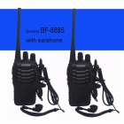 Baofeng BF-888S Walkie Talkie Portable Radio BF888s 5W 16CH UHF 400-470MHz BF 888S Comunicador Transmitter Transceiver - 2PCS Black USB charger