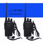 Baofeng BF-888S Walkie Talkie Portable Radio BF888s 5W 16CH UHF 400-470MHz BF 888S Comunicador Transmitter Transceiver - 2PCS with 2microphone