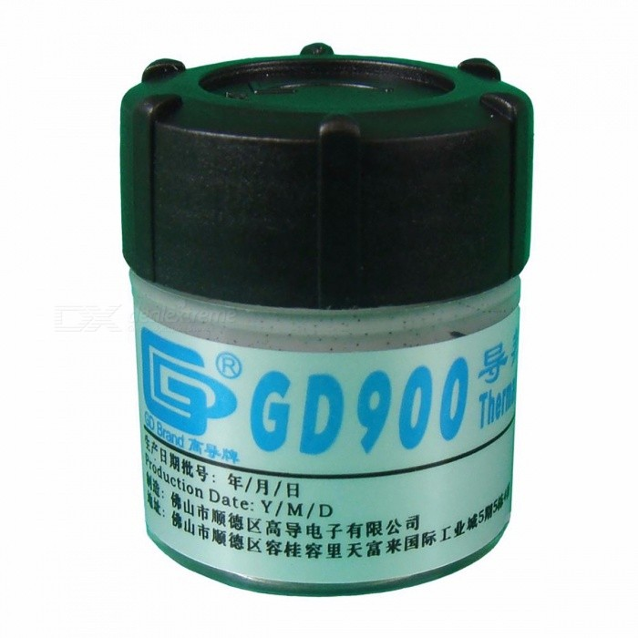 GD900 Thermal Conductive Grease Paste Silicone Heatsink Compound Net Weight 30 Grams High Performance Gray For CPU CN30