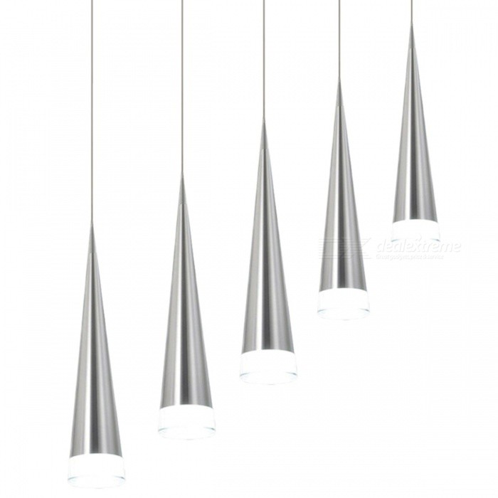 Modern 5W LED Pendant Lamp, Fashion Iron Metal Light Fixture for Living Room, Bedroom, Restaurant, Dining Kitchen Decoration Cool LightPendant Lights<br>DescriptionItem Type: Pendant LightsFinish: Polished SteelLampshade Color: SilverPower Source: ACInstallation Type: Cord PendantPlace: Study,Parlor,Hotel Hall,Hotel Room,Master Bedroom,other bedroomsBody Material: Stainless Steel,AluminumLight Source: LED BulbsIs Bulbs Included: YesApplication: Dining RoomSwitch Type: Knob switch,OtherMaterial: Stainless SteelStyle: ModernVoltage: 90-260VNumber of light sources: &gt; 20Technics: PlatedLighting Area: 5-10square metersBrand Name: LingstoneBase Type: WedgeIs Dimmable: NoCertification: CCC<br>