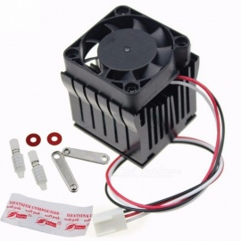 Premium 40mm x 10mm Cooling Fan Heatsink, DIY Northbridge Cooler South North Bridge Radiator for PC Computer Black