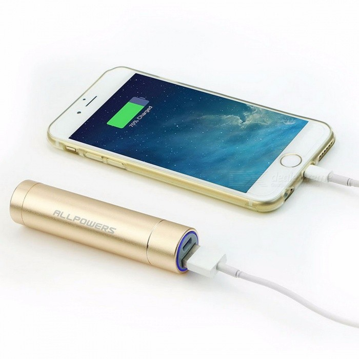 ALLPOWERS Portable 3400mAh External Battery Pack, Power Ban, PowerBank, Phone Charger for IPHONE, Samsung, Sony, Etc