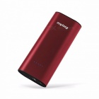 EasyAcc Portable 6400mAh Metal Power Bank, Travel Charger, Powerbank External Battery Pack with 2.4A Dual USB Port for IPHONE 7 Red