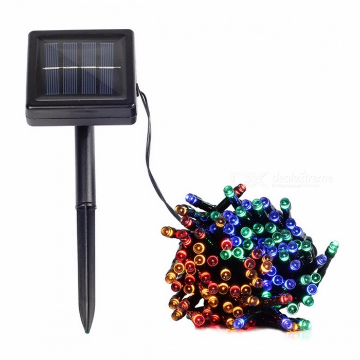 Solar Lamp Fairy String Lights Solar Power Outdoor Lights Waterproof For Garden Light LED Lighting String 22M 200LEDs/ColorfulLED String<br>Description<br><br><br><br><br>Power Source: Solar<br><br><br>Solar Cell Type: Ni-MH<br><br><br><br><br>Certification: CE,FCC,RoHS<br><br><br>Brand Name: coolo<br><br><br><br><br>Voltage: 6V<br><br><br>Usage: Holiday<br><br><br><br><br>Body Material: ABS<br><br><br>Protection Level: IP55<br><br><br><br><br>Light Source: LED Bulbs<br><br><br>Base Type: Wedge<br><br><br><br><br>Is Bulbs Included: Yes<br><br><br>Is Dimmable: No<br><br><br><br><br>Style: Art Deco<br><br><br><br><br><br><br><br>Showcase/Window Displays,Restaurants/Bar Decorations,Home/Garden Decorations,<br><br><br>Christmas/Halloween illuminations, Wedding/Birthday Party and etc.<br><br><br>Easy to install. No wiring required.<br><br><br>No electricity cost. Recharged by solar panel under sunlight, and no battery replacement.<br><br><br>Waterproof. IP65. Suitable for outdoor applications.<br><br><br>With light sensor. Automatically turns on at dusk, and turns off at dawn<br><br><br>Low Safe Voltage. Working voltage is 1.2 volt. Its safe to use in places where you may touch.<br><br><br>Eco-Friendly. No lead or mercury. No UV or IR Radiation<br><br><br>&amp;nbsp;<br><br><br><br>This wonderful string light illuminates during night, ideal for decorating your gardens, patio, lawn, porch, gate, yard, etc.&amp;nbsp;<br><br><br>Super long working time, it can continuously work more than 8 hours at night if the panel absorbs enough sunshine during day.&amp;nbsp;<br><br><br>Waterproof, suitable for indoor and outdoor use.&amp;nbsp;<br><br><br>Solar powered panel is stood by a 20cm garden spike. With ON/OFF, MODE switches.&amp;nbsp;<br><br><br>With 2 switch, one is Mode (Flashing mode convert switch), another is Power On/Off(After switch turned on, can automatic light control and charging).&amp;nbsp;<br><br><br>&amp;nbsp;<br><br><br>&amp;nbsp;<br><br><br><br><br><br><br>Batter