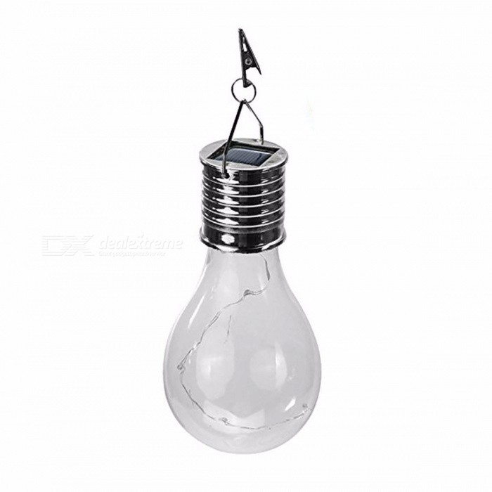 Outdoor Hanging Solar Powered LED Light Bulb Wireless Rotatable Waterproof Garden Camping Tree Decoration Night Light Lamp