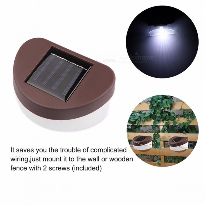 Outdoor IP65 Waterproof 2 LED Solar Garden Light Auto ON/OFF At Night Wall Lamp for Outdoor Lighting Fence Courtyard Stairs