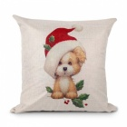 FENGRISE Merry Christmas Decorations For Home Christmas Tree Cushion Cover Pillow Case Throw Pillow Covers Dog 1